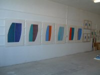 Six Dry Pigment Drawings